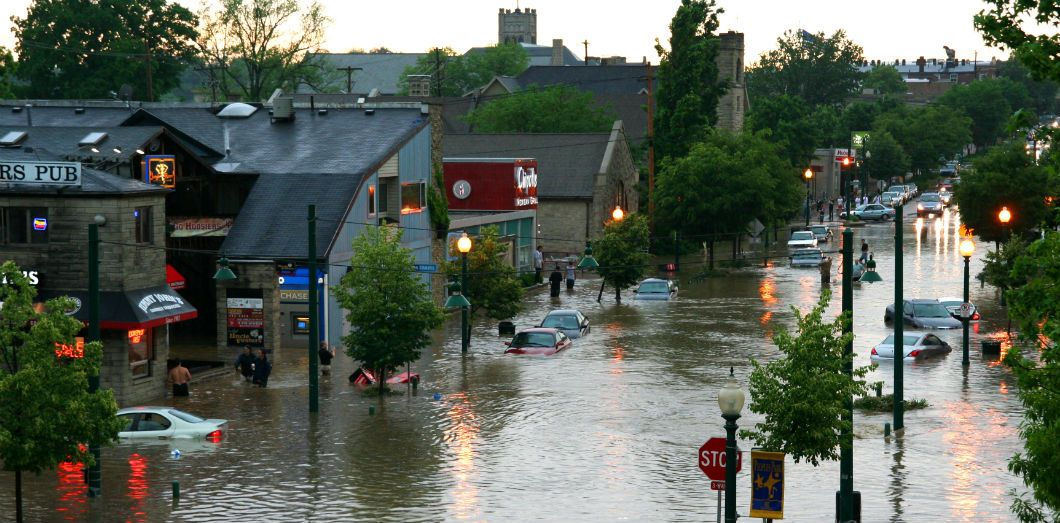Une inondation à Bloomington dans l'Indiana | Jeff Greenegend via Flickr CC License by