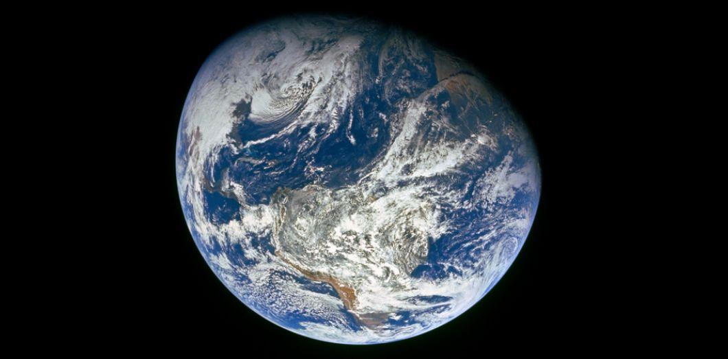La Terre vue de la Lune, image issue de la mission Appollo 8, en 1968. | Nasa