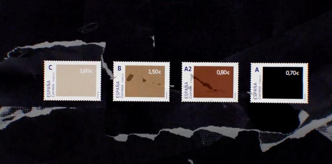 Letimbre noir vaut 70 centimes et le plus clair coûte 1,60 euro. | Capture d'écran CanalCorreos via YouTube