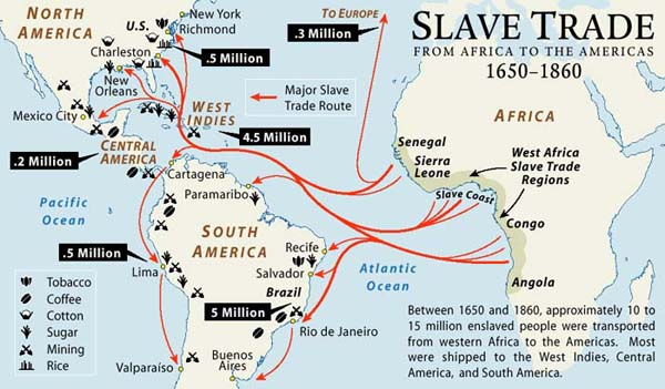 Image result for Slave trade map with numbers 7th to 19th century West Africa East Africa Middle east Indian ocean map""