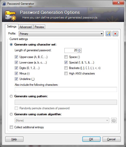 keepass-primary-password-customization