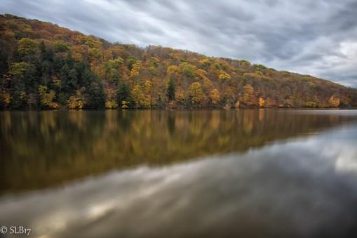 Laurel Hill Lake before rain.