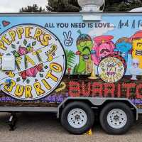 Sgt. Pepper's FAT Burrito food truck menu