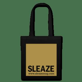 SLEAZE Tasche schwarz/gold Glitzer