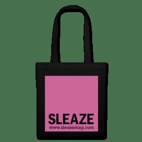 SLEAZE Tasche schwarz/pink Glitzer