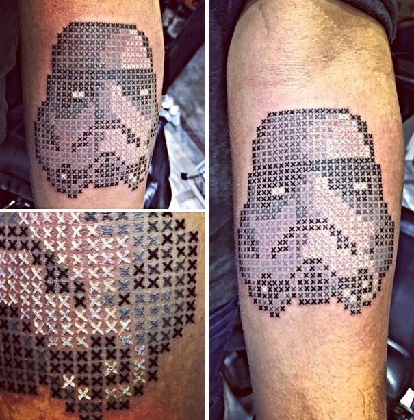 Eva Krbdk Stormtrooper Tattoo Kreuzstiche Inspiration