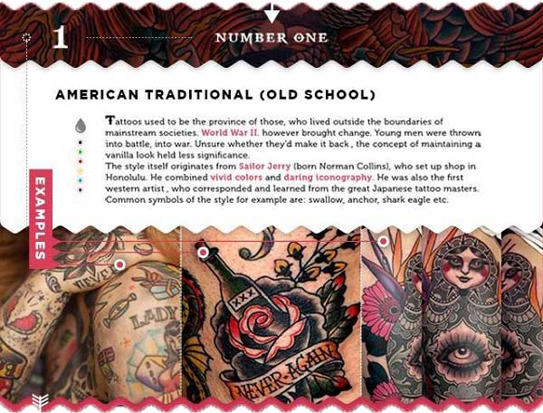 tattoostile traditional old school dicke konturen seemann matrose tattoo chief