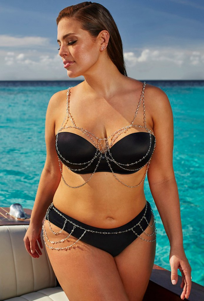 bikini day Ashley Graham schwarz