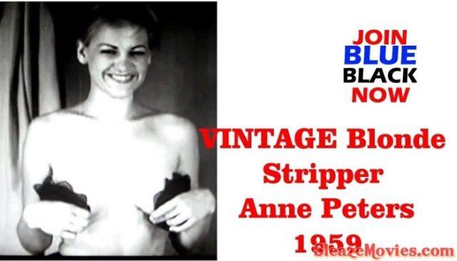 VINTAGE Blonde Stripper Anne Peters -1959