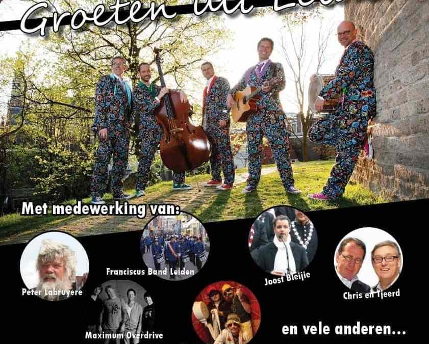 Gastoptredens jubileumoptreden 'Groeten uit Leiden' bekend!