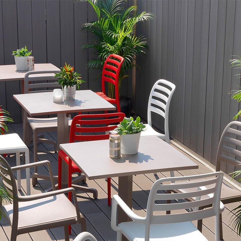 chaise costa bistrot pour terrasse bar restaurant et collectivites