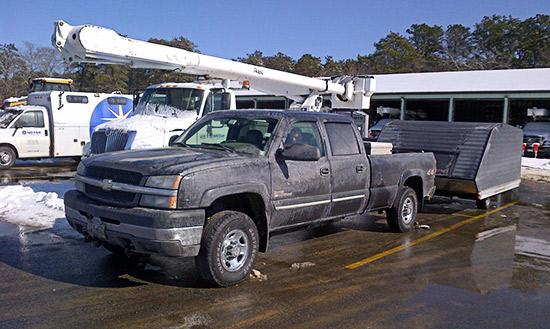 Snowmobilers arrive at NSTAR