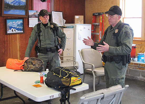 Massachusetts Environmental Police Lt. Terry Davis and Sgt. David Unaitis.
