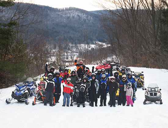 Snowmobile Association of Massachusetts family snowmobile ride, Colrain.