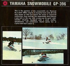 Ronnie Ouimet Vintage Yamaha Snowmobile advertisement