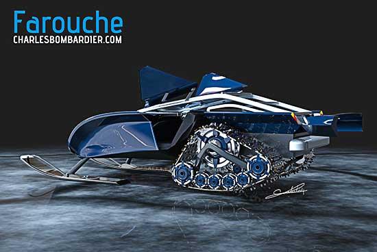 Farouche a Wild Snowmobile Design Concept