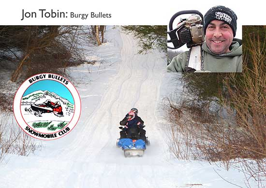 Jon Tobin, snowmobile volunteer