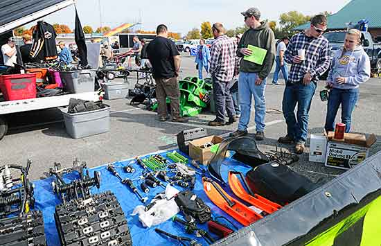 Used snowmobile parts at the sled expo