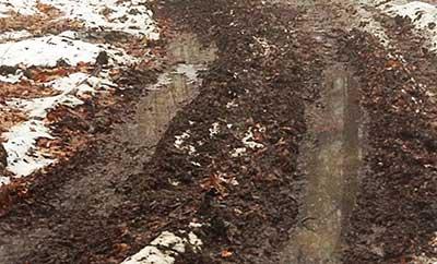 ATV's damage snowmobile trail