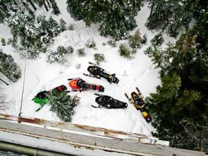 Snowmobile Kokadjo on Moosehead Lake