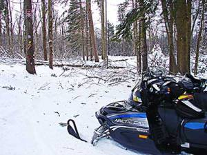 Snowmobile trail work