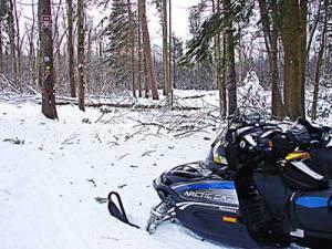 Snowmobile trail work