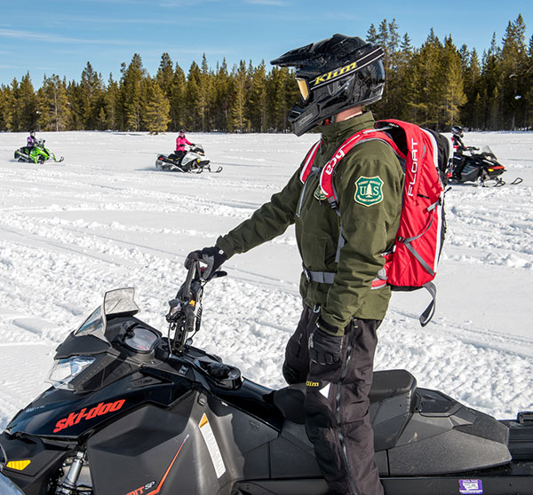 Free snowmobile weekend, take the time to stop and look