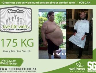 Gary Martin Smith lost 175 kilograms.