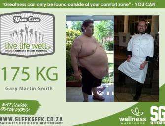 Gary Martin Smith lost 175 kilograms.
