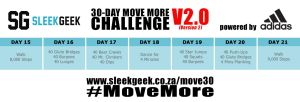 Sleekgeek 30-Day Move More Challenge Version 2.0 Week 3