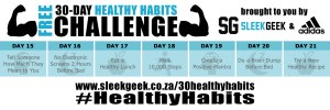 Sleekgeek 30-Day Healthy Habit Challenge Week 3 powered by adidas
