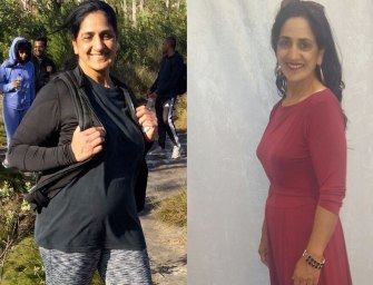 Hoosne Parker regains her life at age 57 and loses 17kgs