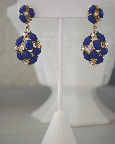 Blue Earrings, Cobalt Blue Earrings, Cobalt Earrings