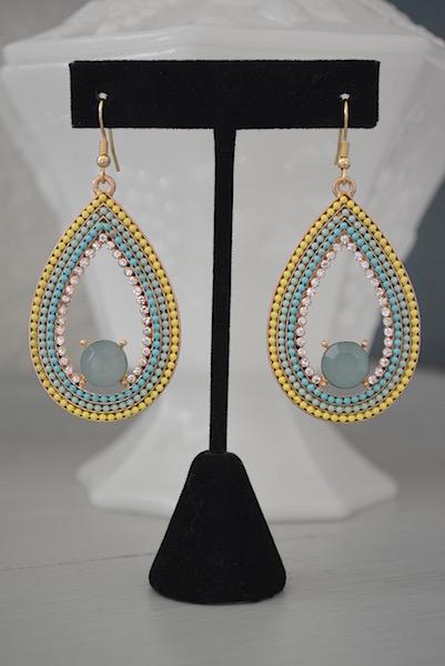 Mint Teardrop Earrings, Bright Earrings, Mint Jewelry