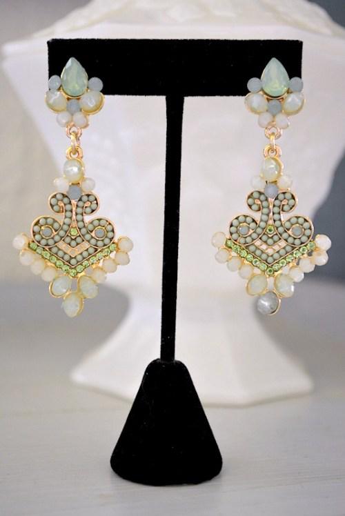 Melon Earrings, Green Earrings, Mint Earrings, Mint Jewelry, Green Jewelry
