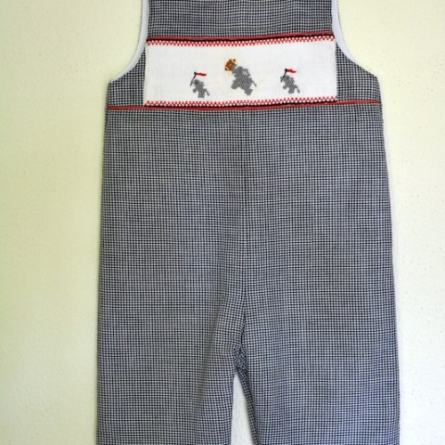 Smocked Elephants Romper Pants, Smocked Elephants, Romper, Overalls, Alabama, Football Season, Smocked Outfit, Smocking, Kid's Clothes