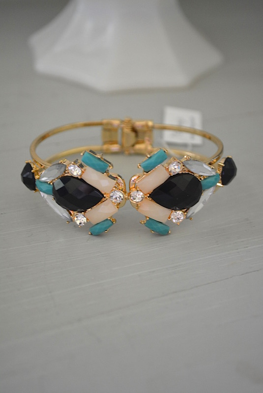 Blush and Black Bracelet