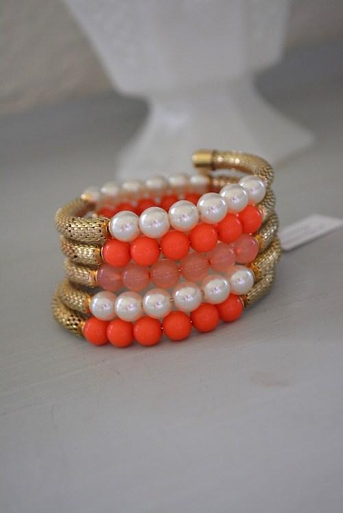 Coral Wrap Bracelet, Wrap Bracelet, Coral Jewlery