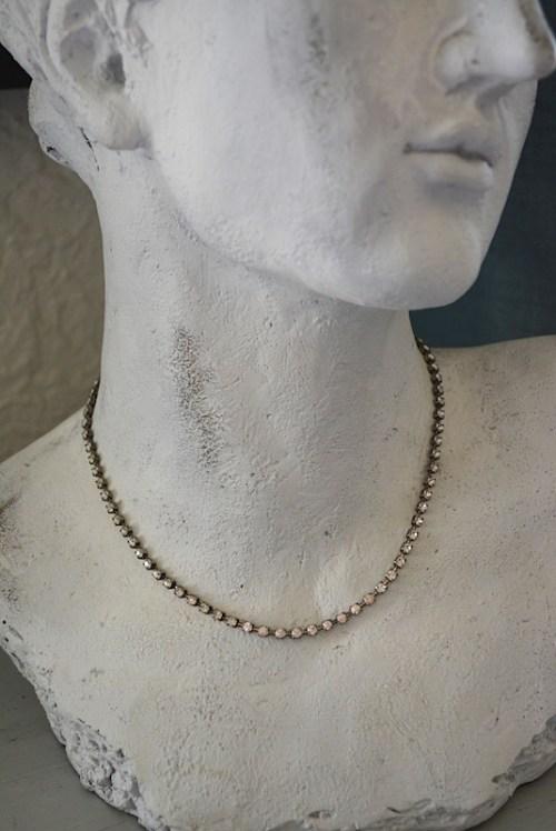 Rhinestone Chain Necklace,Rhinestone Necklace,Simple Rhinestone Necklace,Vintage Rhinestone Necklace