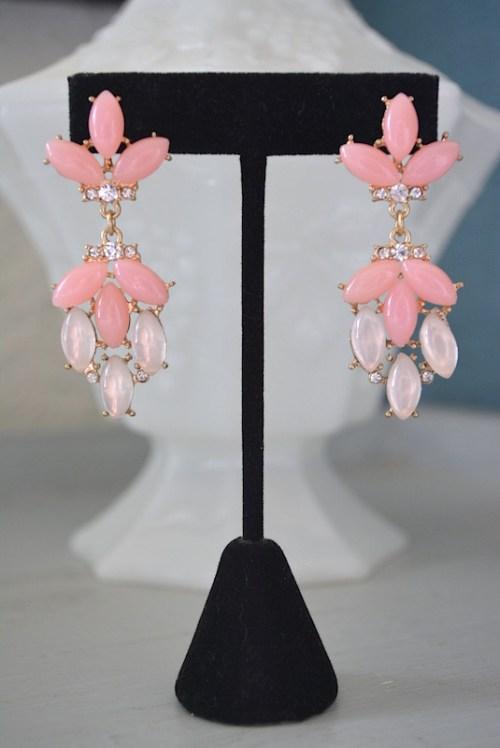 Pinks Earrings,Pink Earrings,Baby Pink Earrings, Pale Pink Earrings,Girly Earrings
