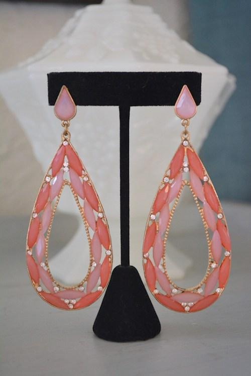 Pink Teardrops Earrings, Pink Teardrop Earrings,Pink Earrings, Pink Statement Earrings,Pink Jewelry,Rose Pink Earrings,Baby Pink Earrings, Pale Pink Earrings, Teardrop Earrings