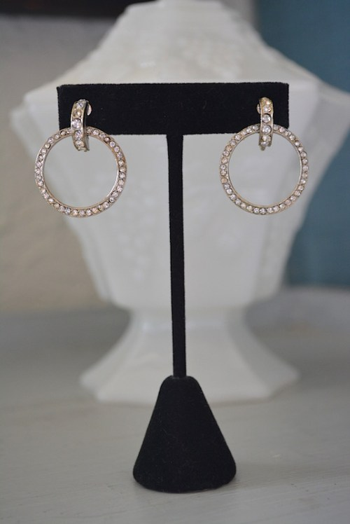 Rhinestone Hoop Earrings, Rhinestone Hoops