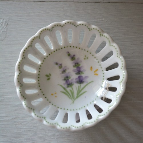 Lavender Jewelry Tray,Flower Jewelry Tray,Jewelry Bowl, Ceramic Dish,Flower Jewelry Tray
