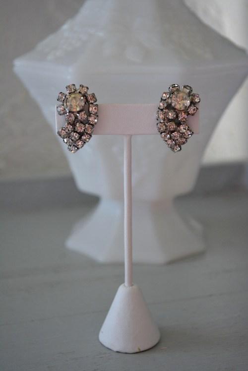 Rhinestone Wings Earrings, Rhinestone Wing earrings, Vintage Rhinestone Earrings, Rhinestone Earrings, Bridal Earrings, Wedding