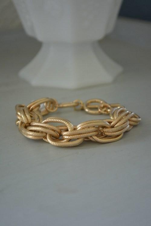 Gold Linked Bracelet, Gold Bracelet, Gold Chain Bracelet