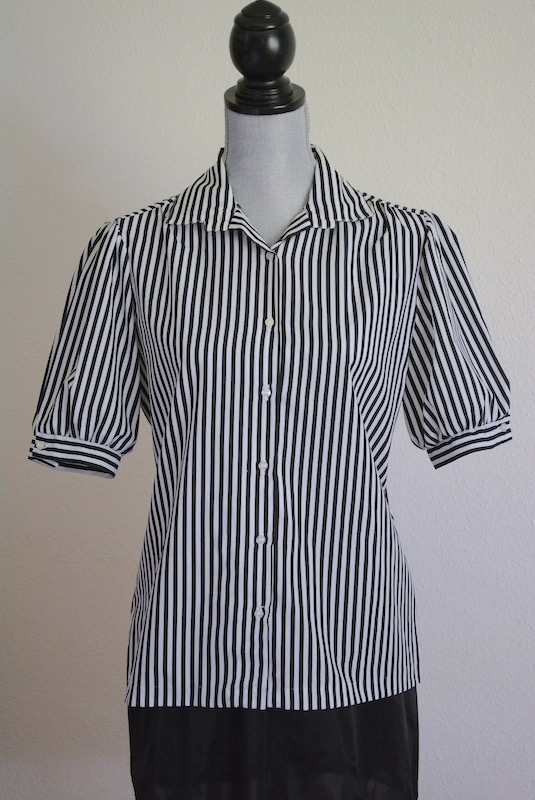 Black and White Blouse, Vintage Clothes, Rhoda Lee Clothes, Rhoda Lee, Black and White Top, 1980's Fashion