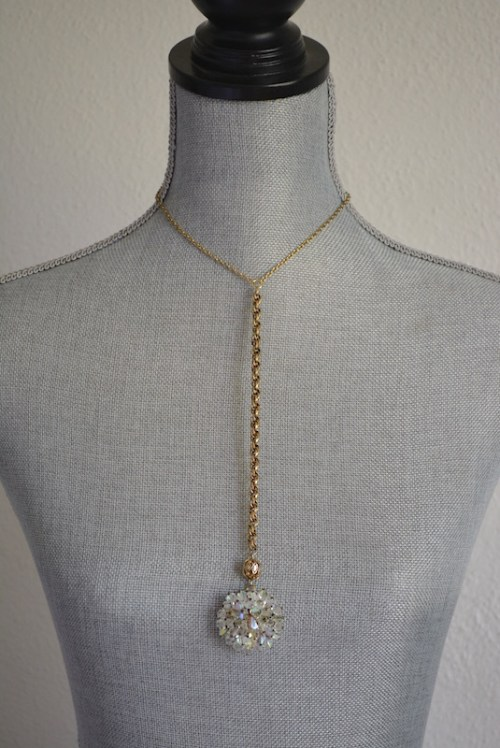 Crystal Pendant Necklace, Vintage Parts, Repurposed Jewelry, Repurposed Necklace, Crystal Necklace, Swarovski Crystal Necklace, Vintage Chains, Gold and Crystal Necklace