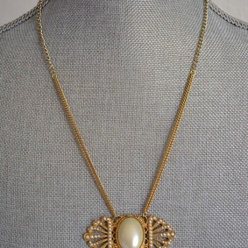 Art Deco Pearls Necklace, Art Deco Jewelry, Pearl Necklace, Pearl and Chains Necklace, Repurposed Jewelry, Bridal Jewelry