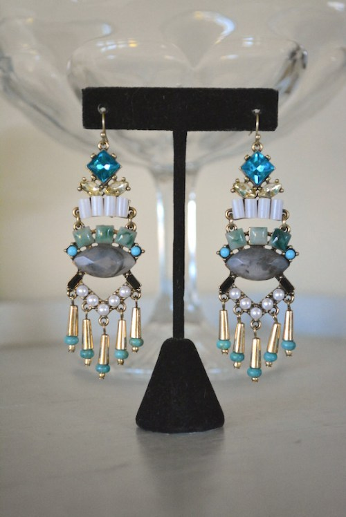 Turquoise Chandelier Earrings, Stone Earrings, Statement Earrings, Statement Jewelry
