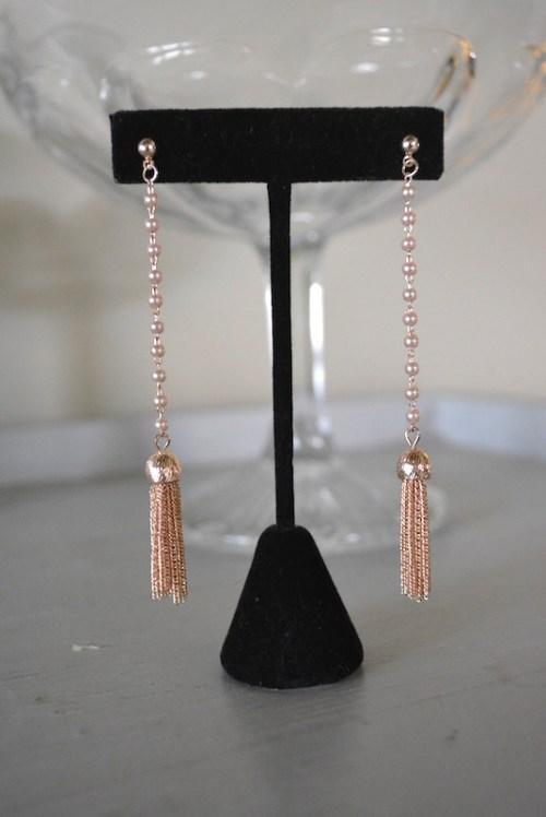 Pearl Fringe Drop Earrings, Fringe Earrings, Fringe Earrings, Long Pearl Earrings, Pearl Earrings